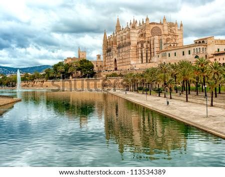 Dome of Palma de Mallorca, Spain - stock photo