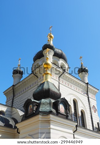 Dome of the Christian church - stock photo