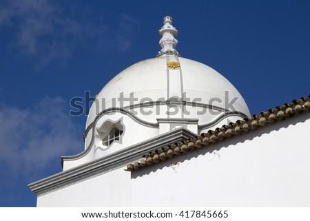 Dome of the Church of Nossa Senhora da Soledade, Olhao, Algarve, Portugal - stock photo