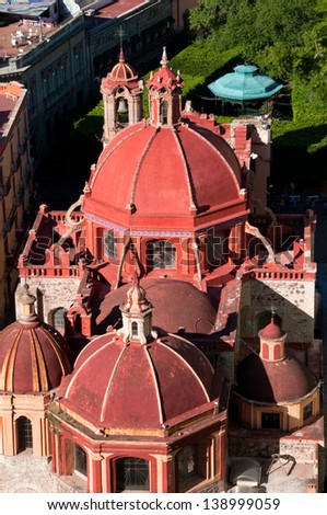 Dome of the church of San Diego, Guanajuato (Mexico) - stock photo