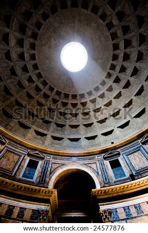 Dome of the Pantheon (Rome) - stock photo