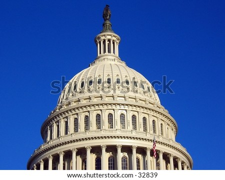 Dome of the United States Capitol in Washington, D.C. - stock photo