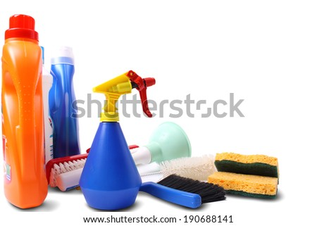 Domestic cleaning - stock photo