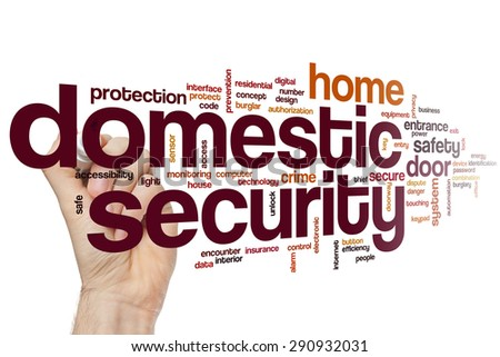 Domestic security word cloud concept - stock photo