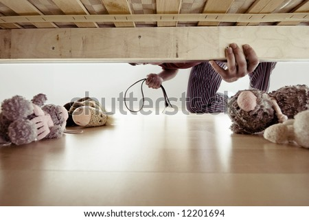 domestic violence, child abuse - concept - stock photo