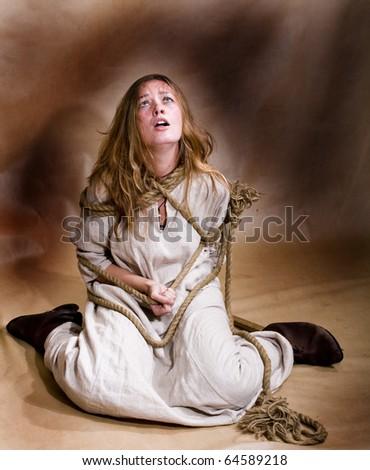 domestic violence concept - stock photo