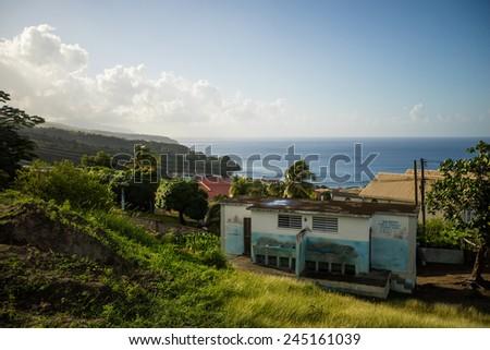 Dominica, caribbean sea - stock photo