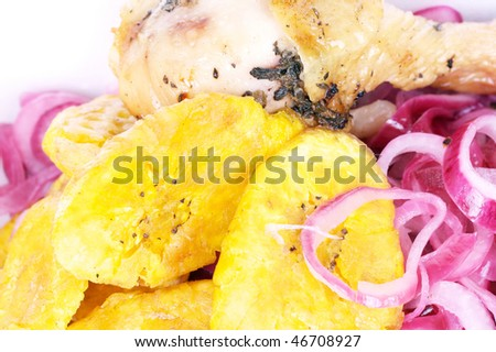 Dominican local food, Plantain patacones