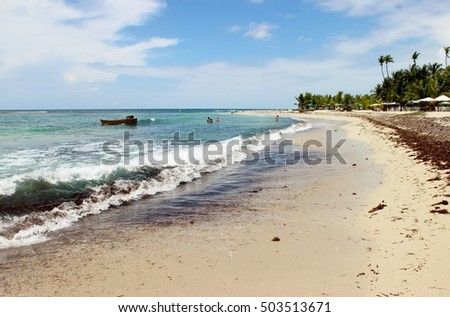 Dominican Republic - Caribbean Sea and the endless beach