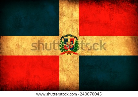 Dominican Republic grunge flag - stock photo