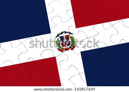 Dominican Republic jigsaw puzzle - stock photo