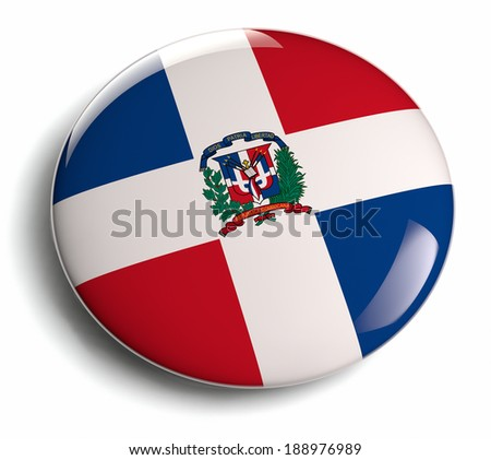 Dominican Republic national flag badge.