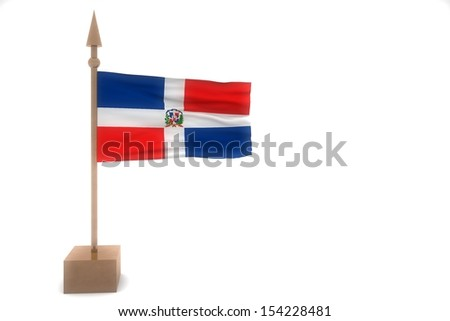 dominican republic waving flag isolated on white