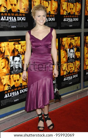 "DOMINIQUE SWAIN at the world premiere of her new movie ""Alpha Dog"" at the Arclight Theatre, Hollywood. January 3, 2007  Los Angeles, CA Picture: Paul Smith / Featureflash"
