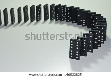 domino - stock photo
