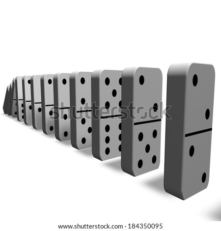 domino game, isolated pawns - stock photo