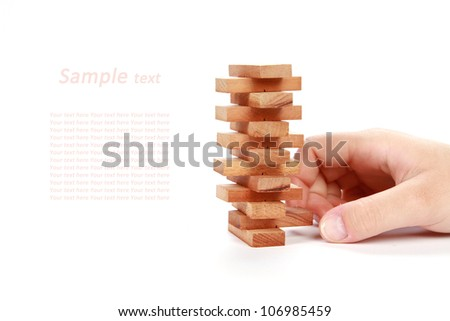 domino isolated on white with sample text - stock photo
