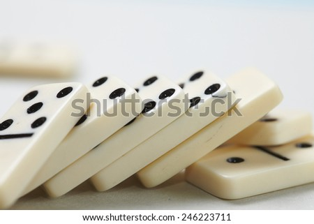 domino pieces - stock photo