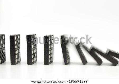 Dominoes 12 - stock photo