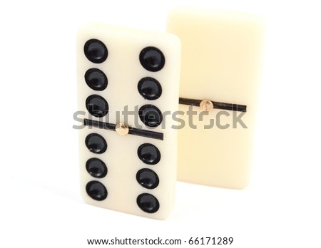 dominos on a white background