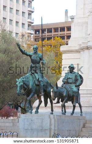 Don Quixote and Sancho Panza - stock photo
