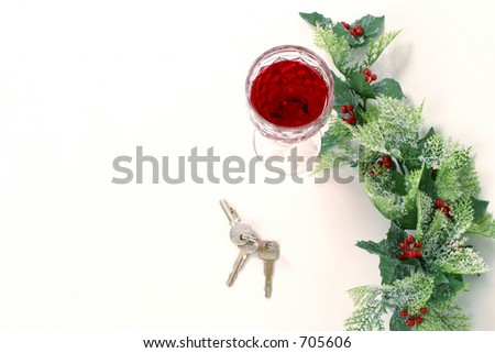 don't drink and drive 2 - stock photo