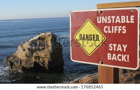 Don't Fall - stock photo