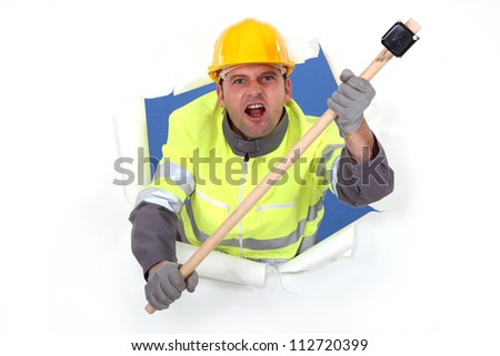 Don't mess with me. - stock photo