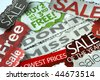 Donâ??t miss the on sale and free deals - stock photo