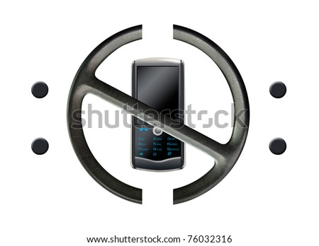 Don't text and drive - stock photo