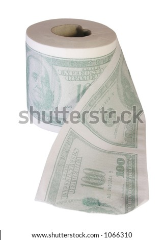 don't waste your money - stock photo