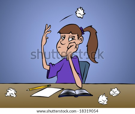 Don't ya just love it when you can't come up with anything? - stock photo