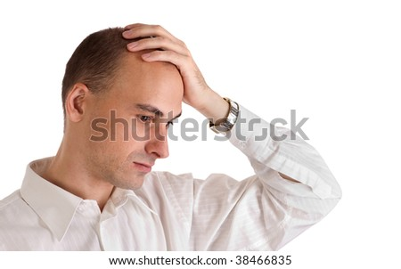 Don't you forget about me (The lonely man) - stock photo
