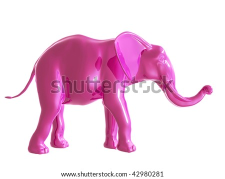 Don't you think about a pink elephant - stock photo
