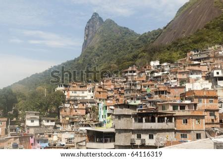 Dona Marta Mountain Residence, in Rio de Janeiro, Brazil - stock photo