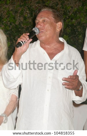 Donald T. Sterling at the Birthday Celebration for Fred Segal and Charity Auction. Private Location, Malibu, CA. 08-29-09 - stock photo