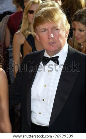 DONALD TRUMP at the 56th Annual Primetime EMMY Awards at the Shrine Auditorium, Los Angeles. September 19, 2004 - stock photo