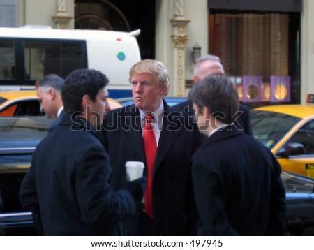 Donald Trump on 5th Ave - stock photo