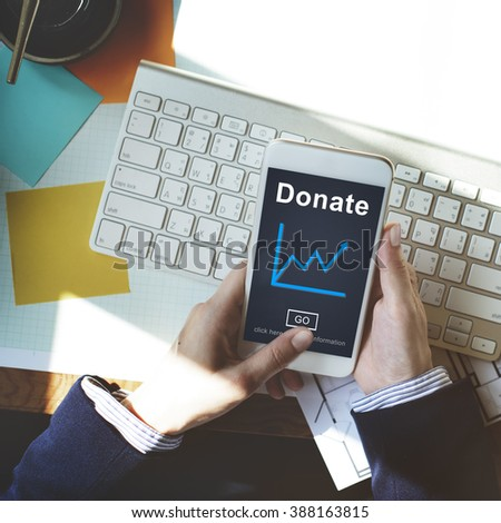 Donate Aid Give Help Offering Volunteer Charity Concept - stock photo