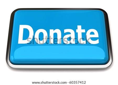 Donate button - stock photo
