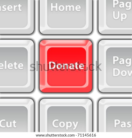 Donate button - stock photo