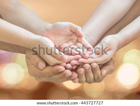 Donation Charity Concept Family Parent Children Stock ...