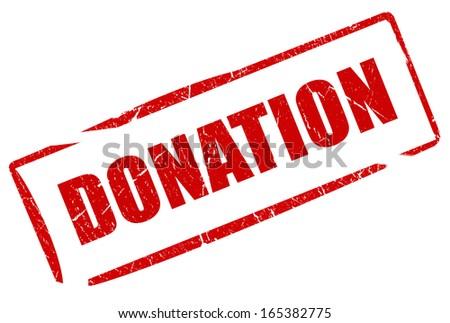 Donation stamp - stock photo