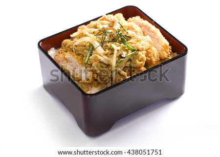 donburi, pork rice bowl