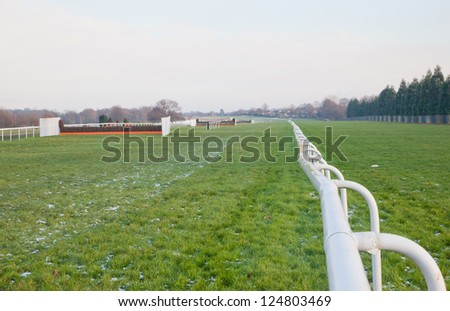 Doncaster Race Course in Winter - stock photo