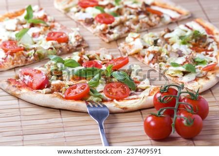 Doner Kebab Pizza - stock photo
