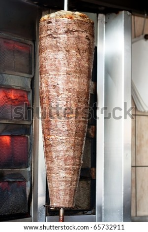 Doner Kebab with Red Meat - stock photo