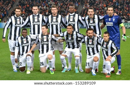 DONETSK, UKRAINE - DEC 5: Juventus general photo before the Champions League match between Shakhtar vs Juventus, 5 December 2012, Donbass-Arena, Donetsk, Ukraine - stock photo
