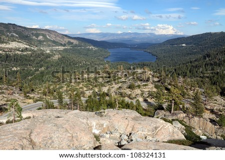 Donner Lake near Truckee, California - stock photo