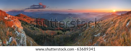 Donovaly (Ski resort) village form peak Zvolen - Slovakia mountain Fatra - stock photo